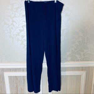 Boston proper crepe large pull on pants tie waist